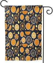 Ornamenti da giardino bandiera arancione limone