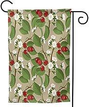 Ornamenti da giardino bandiera ciliegio bacche