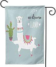 Ornamenti da giardino Bandiera Divertente Llama