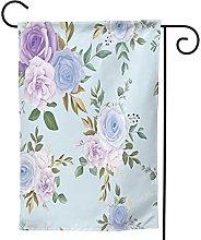 Ornamenti da giardino Bandiera Fiore Blu Foglie
