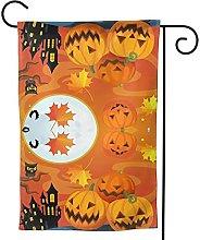 Ornamenti da giardino Bandiera Halloween Zucca