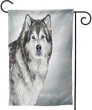 Ornamenti da giardino bandiera peloso carino cane