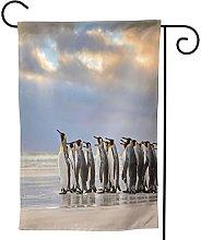 Ornamenti da giardino Bandiera Pinguino Spiaggia