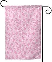 Ornamenti da giardino bandiera rosa elementi