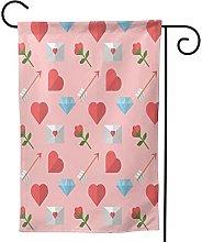 Ornamenti da giardino bandiera San Valentino cuore