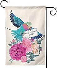Ornamenti da giardino bandiera uccelli fiori