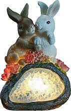 Ornamento da Giardino Coniglio Statua con Solare