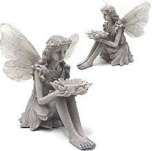 Ornamento da Giardino Solare Fata Statua,con