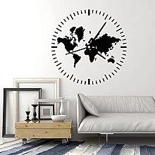 Orologio Adesivo da parete Viaggi Turismo Astratto