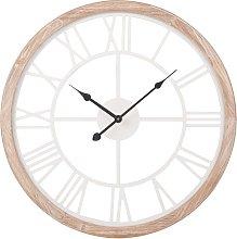 Orologio bianco e colore naturale, 50 cm