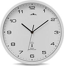 Orologio da parete bianco al quarzo automatico