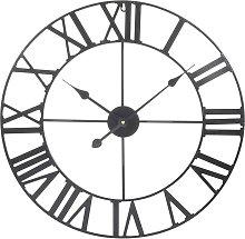 Orologio in metallo nero 60 cm