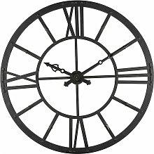 Orologio luminoso nero in metallo D.121cm
