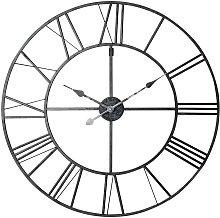 Orologio nero in metallo 80 cm