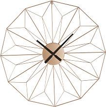 Orologio ramato in metallo 80 cm