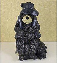 Orso da Giardino da Esterno Ornamento Orso Nero e
