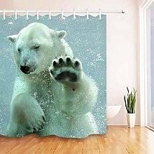 Orso polare che nuota sott'acqua Stampa HD,