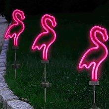 OSALADI Solare Pathway Luce Impermeabile Flamingo