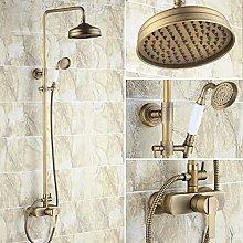 Ottone antico maniglia singola leva bagno 8