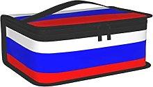 OUCSSDLTD Borsa per il pranzo con bandiera russa