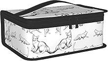 OUCSSDLTD Gatto Poses Lunch Box per Donne e
