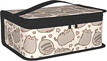 OUCSSDLTD Grigio carino gatto pranzo box per donne