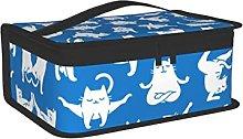 OUCSSDLTD Sfondo blu con gatto Lunch Box per donne