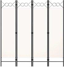 OUSEE Paravento a 4 Pannelli Bianco 160x180 cm