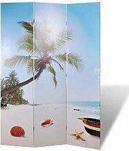 OUSEE Paravento Pieghevole 120x170cm con Stampa