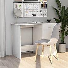 Oushome Scrivania Bianco Lucido 100x50x76 cm in