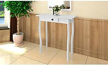 Oushome Tavolo Consolle in MDF Bianco