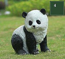 Outdoor Garden Panda Ornament Cartoon Panda in
