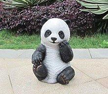 Outdoor Garden Panda Ornament FRP Scultura