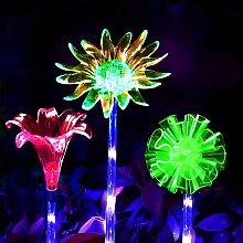 Outdoor Solar Flower Lights, Set di 3 decorazioni
