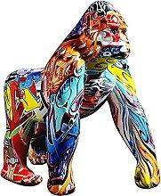 oxskk Colorato Creativo Graffiti Gorilla