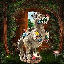 oxskk Giardino degli Gnomi Mangia Dinosauri
