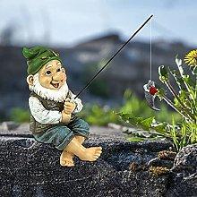 oxskk Pesca GNOME Giardino Statua,Dipinto A Mano