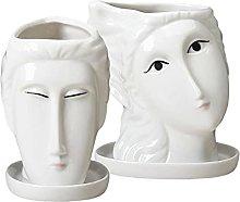 P Prettyia 2 statue per vaso da fiori da giardino,