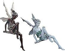 P Prettyia 2pcs Giardino Fata Figurine Decorazione