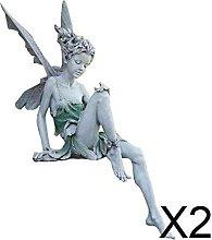 P Prettyia 2xCharming Garden Fairy Figurine