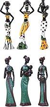 P Prettyia Figure Africane Scultura Tribal Lady