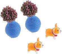 P Prettyia - Vaso a forma di cane ornamentale da