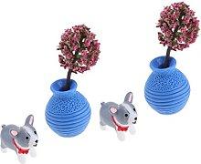 P Prettyia - Vaso per cani in miniatura per