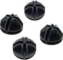Pacchetto 4 connettori nero per armadio
