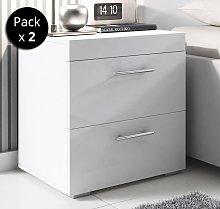 Pack di 2 comodini di design Ciro bianco