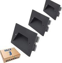 PACK x3 - Faretto segnapasso IP65 esterno da