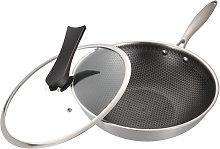 Padella per friggere in acciaio inossidabile con