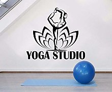 Padiglione Yoga Adesivo Vinile Posa Yoga Lotus