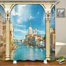 Paesaggio europeo Tenda da doccia Tenda da bagno