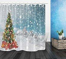 Paesaggio invernale con abbondanti nevicate albero